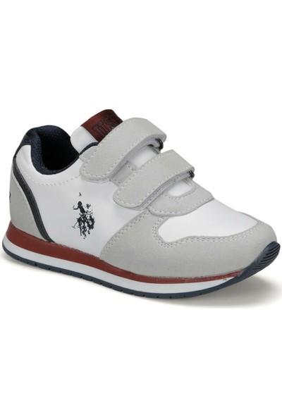 U.S. Polo Assn. Lusty 9Pr Beyaz Erkek Çocuk Spor Ayakkabı
