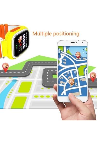 Teknofonik Akıllı Saat GPS Takip Q90/2019 Sim Kartlı - Turuncu