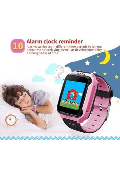 Teknofonik Akıllı Saat Saati GPS Takip Q529/2019 Sim Kartlı - Pembe