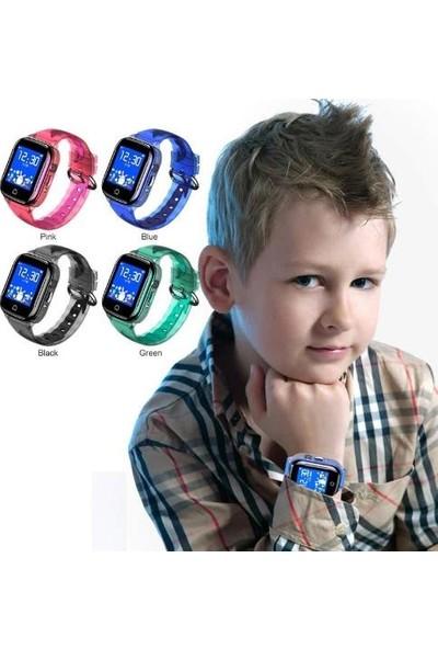 Teknofonik Akıllı Çocuk Saati GPS Takip Su Geçirmez Kameralı K21/2019 Sim Kartlı - Siyah