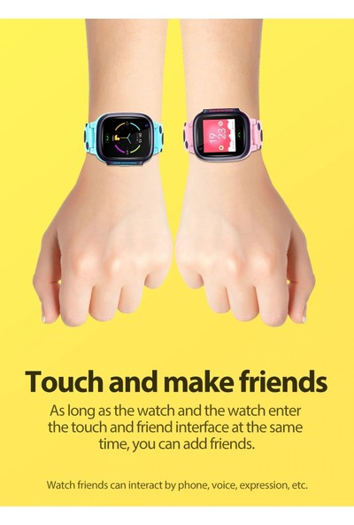 Teknofonik Akıllı Saat Akıllı Çocuk Saati Görüntülü Konuşma Wifi GPS Takip Y95/2019 - Pembe