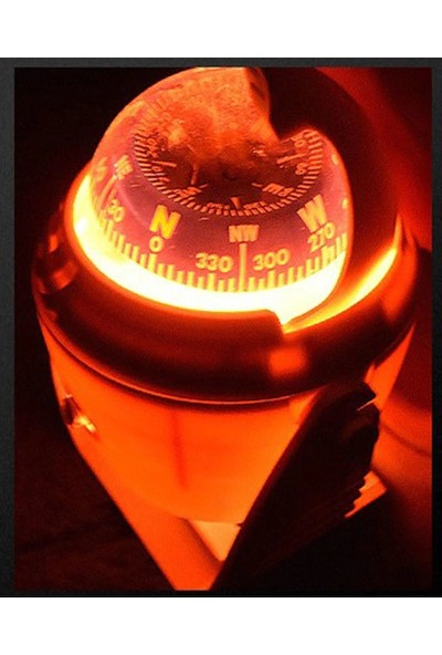 Sealux 53301 Marin Tekne Yat Işıklı Pusula - Siyah