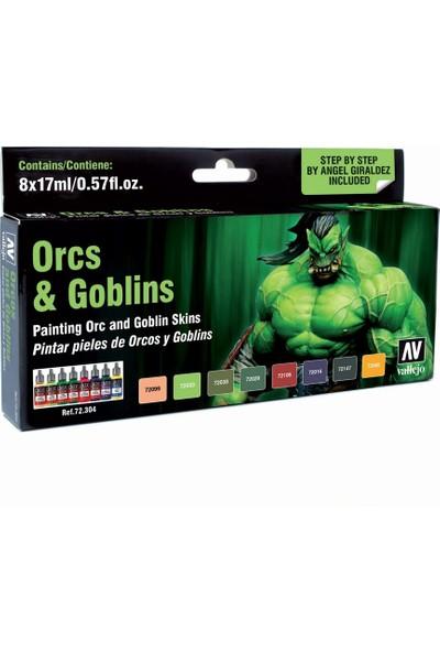 Vallejo Game Color Set: Orcs&Goblıns (8)