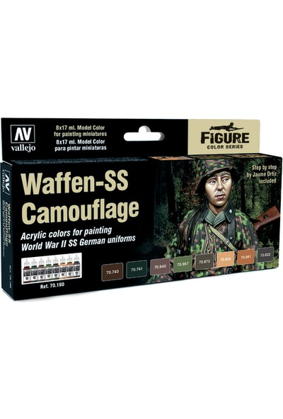 Vallejo Model Color Set: Waffen-Ss Camouflage