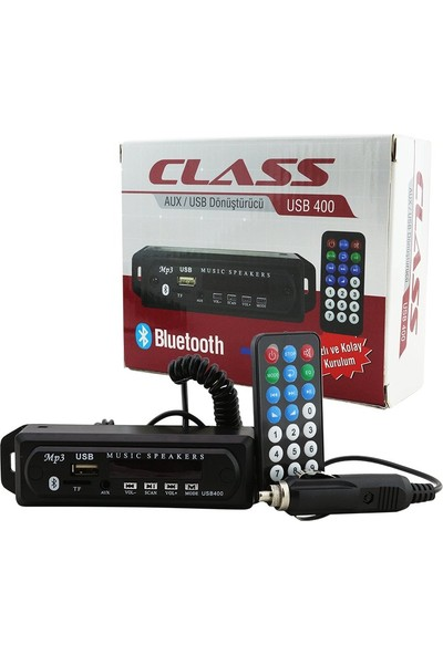 Class USB-401 Aux Usb-Sd-Mmc-Bluetooth Çevirici Kumandalı