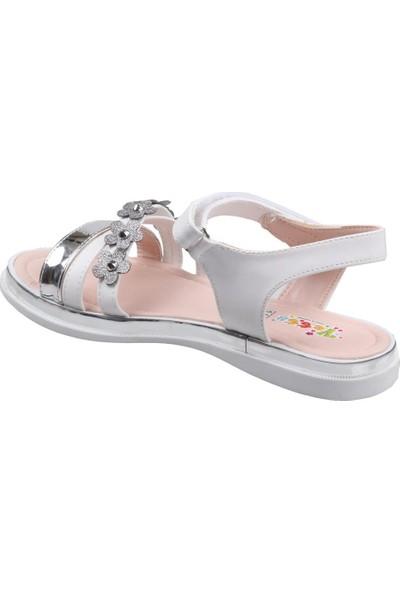 Vetta Girls Kız Çocuk Beyaz-Gri Sandalet