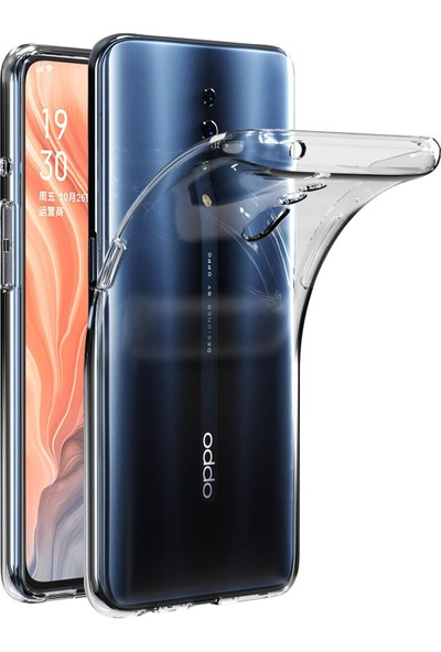 Gpack Oppo Reno Z Kılıf Süper Sillikon Yumuşak Arka Koruma Şeffaf