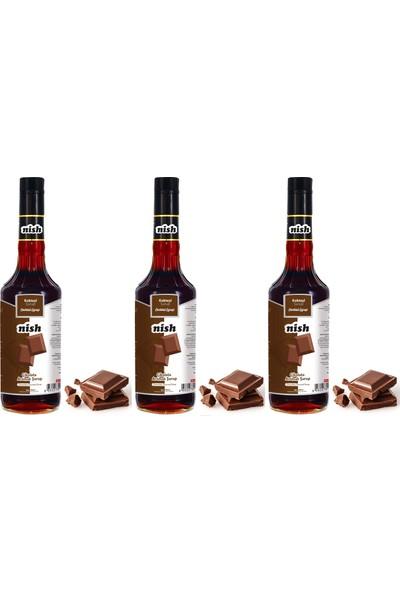 Nish Çikolata Aromalı Şurup 3 x 700 ml
