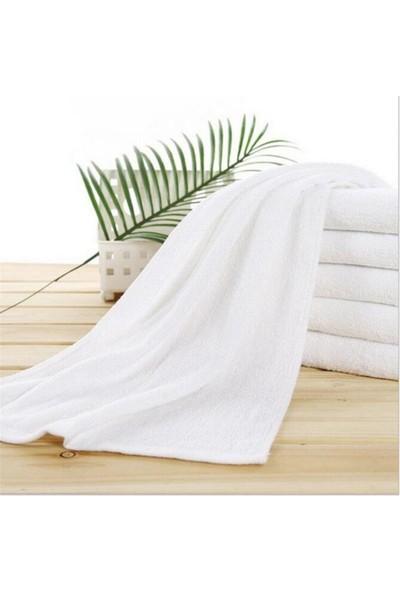 Bol Ticaret Tekstil Kuaför ve Otel Havlusu Beyaz Pamuk, 50X90 cm 12 Adet