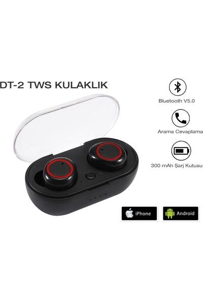 Gomax DT-2 Tws Bluetooth Kulaklık Siyah - Kırmızı