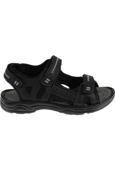 Hammer Jack Deri Kadın Sandalet 1617 Siyah