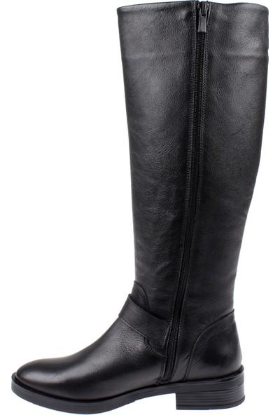 Shalin Deri Kadın Çizme 21900 Siyah