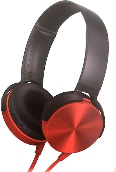 Maiz MDR-XB450AP Mikrofonlu Kulaklık - Kırmızı
