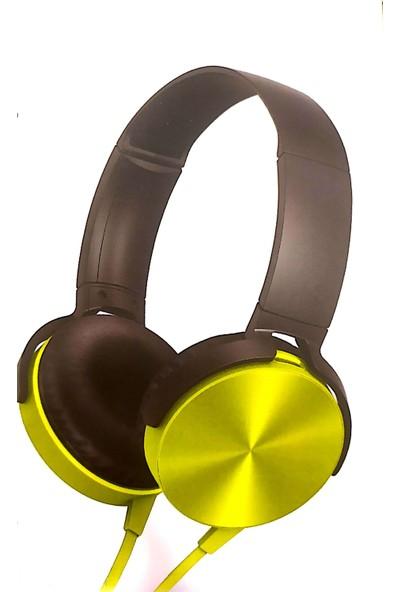Maiz MDR-XB450AP Mikrofonlu Kulaklık - Sarı