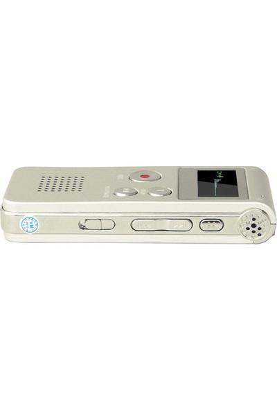 Gomax Dijital Ses Kayıt Cihazı-Mp3 Player 8gb Gümüş