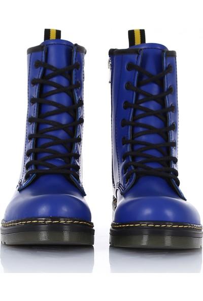 Sothe DM-2019 Saks Deri Bağcıklı Bot Postal Kadın Ayakkabı