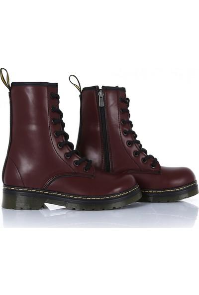 Sothe DME-2019 Bordo Deri Bağcıklı Bot Postal Erkek Ayakkabı