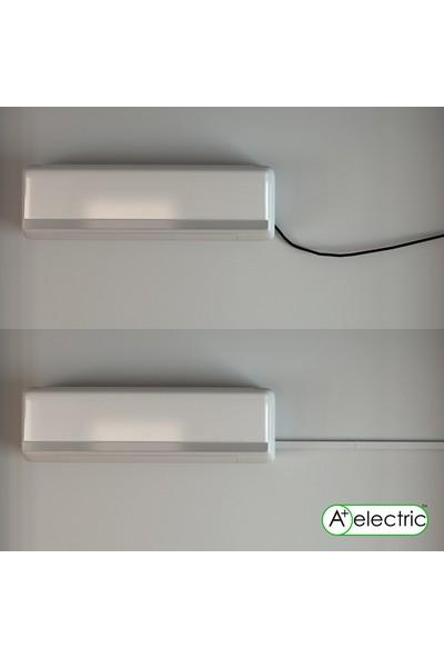 A Plus Elektrik 100 x 40 mm Güçlü Yapışkan Bantlı Beyaz 8 x 2 m 16 m Kablo Kanalı
