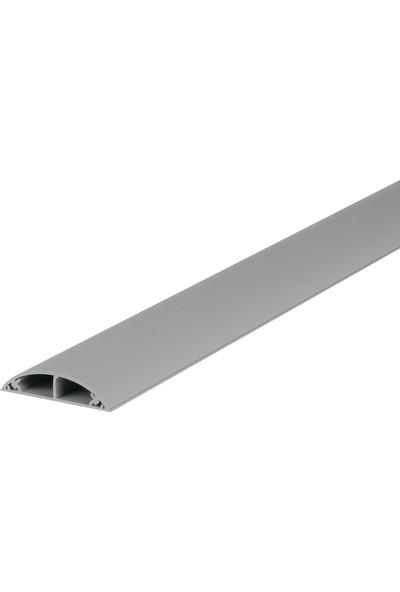 A Plus Elektrik 50 x 12 mm Balık Sırtı Güçlü Yapışkan Bantlı Gri 10 x 1 m 10 m Kablo Kanalı