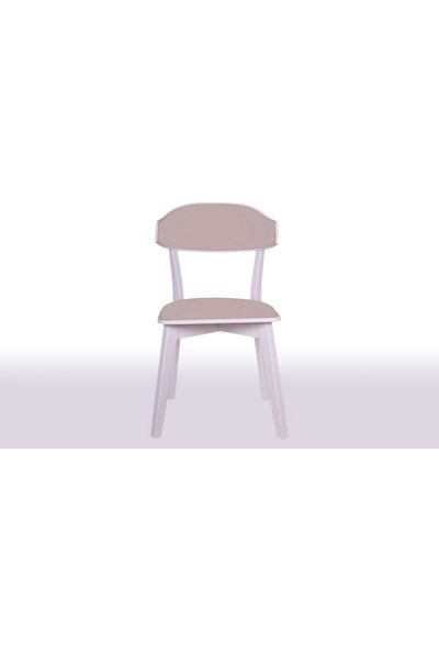 Krl Mobilya Linda Bkc Lake Beyaz Ahşap Sandalye Anfora 3469 Kumaş