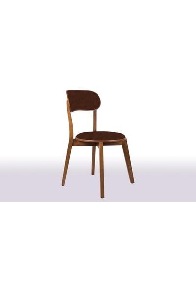 Krl Mobilya Mira Bkc Ceviz Ahşap Sandalye Anfora 3629 Kumaş