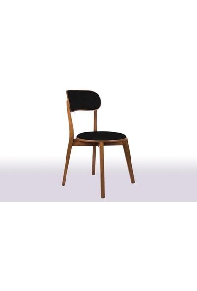 Krl Mobilya Mira Bkc Ceviz Ahşap Sandalye Anfora 795 Kumaş