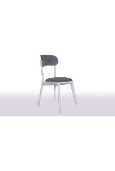 Krl Mobilya Mira Bkc Model Ahşap Sandalye Lake Beyaz