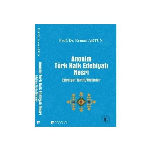Anonim Türk Halk Edebiyatı Nesri-Erman Artun
