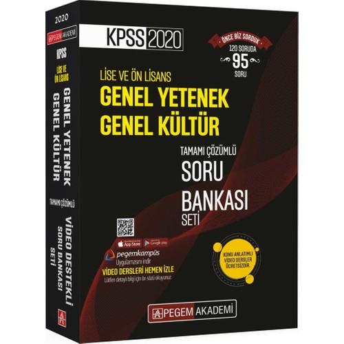 Pegem Akademi 2020 KPSS Lise Ve Önlisans Genel Yetenek Genel Kültür Tamamı Çözümlü Soru Bankası Seti