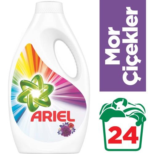 Ariel 24 Yıkama Sıvı Çamaşır Deterjanı Mor Çiçekler