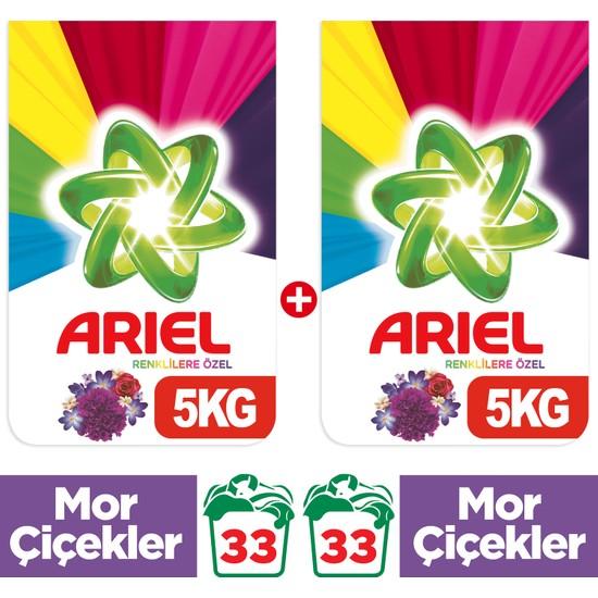 Ariel 5 kg + 5 kg Toz Çamaşır Deterjanı Mor Çiçekler