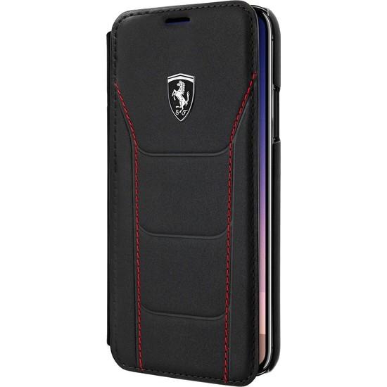 Eiroo Apple iPhone XS Max Cüzdanlı Kapaklı Deri Kılıf - Siyah