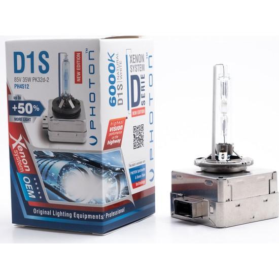 Photon D1S 6000K +%50 Fazla Işık Oem Ampul