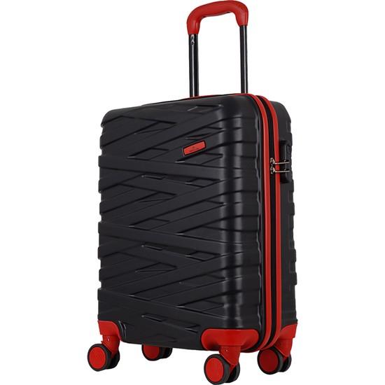Ççs Nc 092 Abs Orta Boy Valiz Siyah Kırmızı