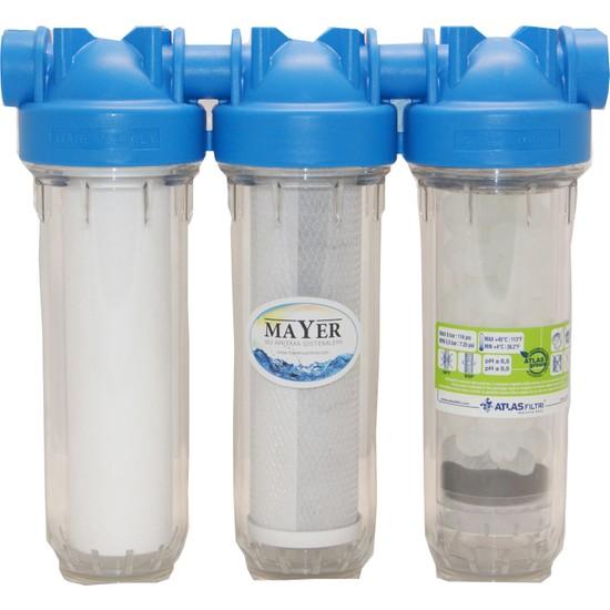 Mayer Su Arıtma Cihazı Kireçli Sulara Özel 2 Takım Silifoz Filtreli