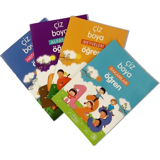 Çocuk Boyama Kitabı (4'lü Set) / 3-6 Yaş Grubu Için