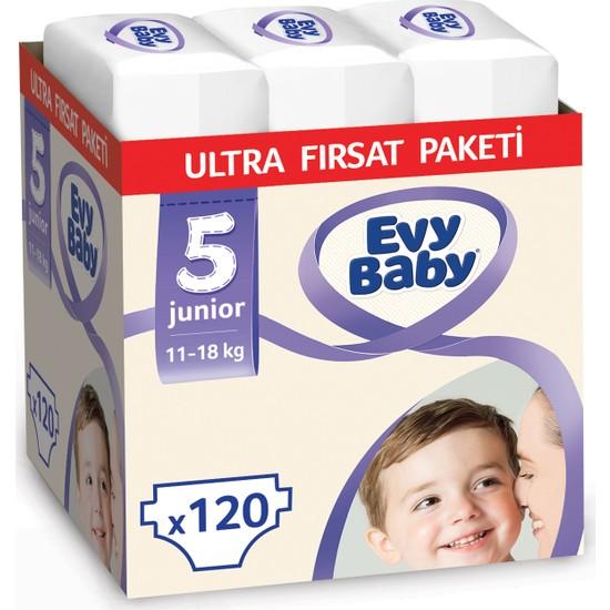 Evy Baby Bebek Bezi 5 Beden Junior Ultra Fırsat Paketi 120 Adet
