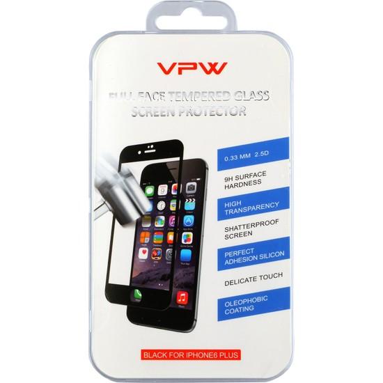 VPW Apple iPhone 6 4.7 inch Fullfıt Siyah Tempered Glass Ekran Koruyucu
