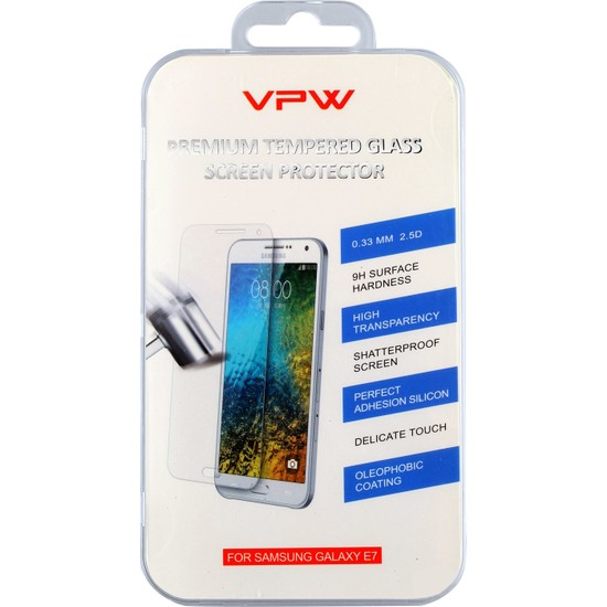 VPW Samsung Galaxy E7 Tempered Glass Ekran Koruyucu