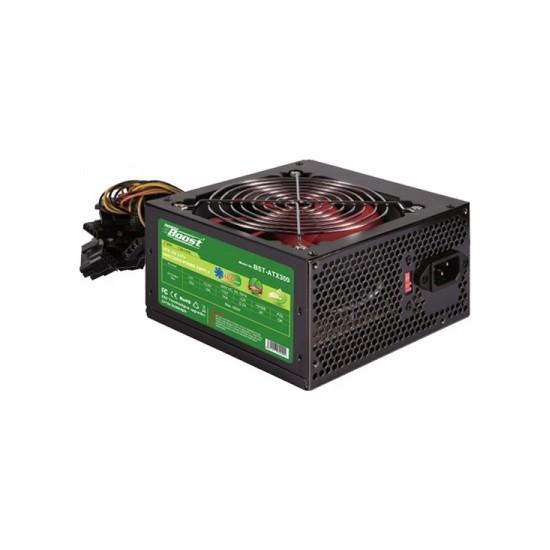 PowerBoost BST-ATX300R 300w 12cm Kırmızı Fanlı ATX Power Supply
