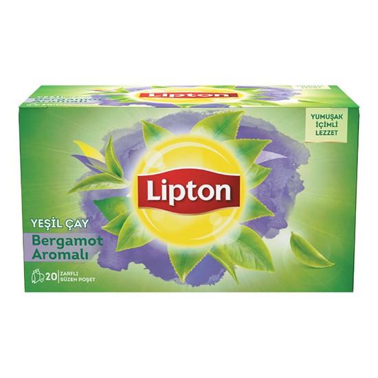 Lipton Bardak Poşet Yeşil Çay Bergamot Aromalı 20'Li