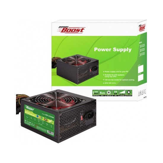 PowerBoost BST-ATX400R 400w PPFC 12cm Siyah Fanlı ATX Power Supply