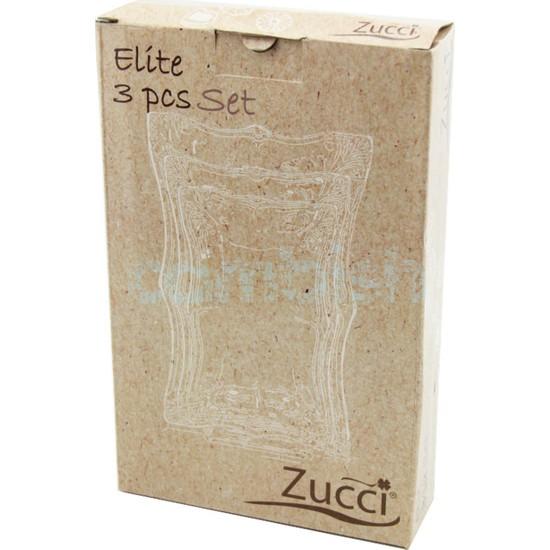 Zucci 3'lü Porselen Kayık Tabak