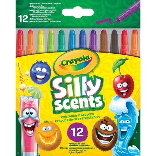 Crayola Silly Scents Çevrilebilen 12'li Pastel Boya Kalemi