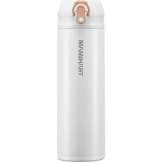 Mannhart by Spigen B203 Hafif ve Ince Sızdırmaz Çift Kilit Mekanizmalı Çift Katmanlı Travel Mug Termos 500 ml Hot 8h / Cold 24h White - 000HP26047