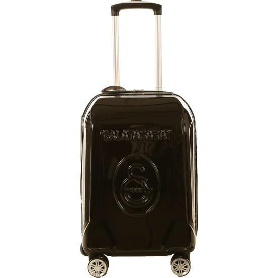 Gs Store Galatasaray Lisanslı Kabin Boy Siyah PP Ultra Hafif Valiz 20 Bavul