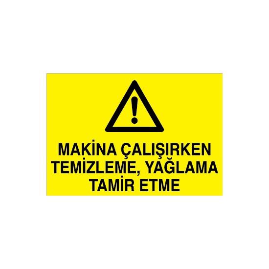 Canis Etiket Makina Çalışırken Temizleme, Yağlama Tamir Etme Sticker-Folyo