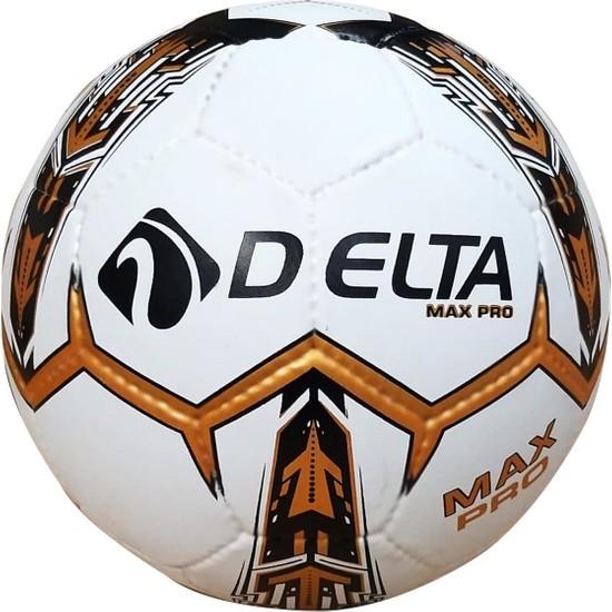 Delta Max Pro El Dikişli Futbol Topu 5 Numara (Beyaz-Siyah-Altın)