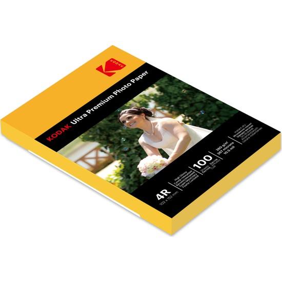 Kodak Ultra Premium Glossy,Parlak 10x15 260Gr/m² Fotoğraf Kağıdı 100 Yaprak