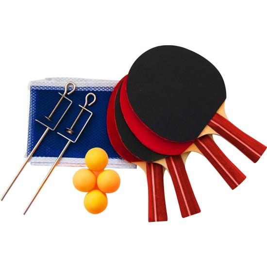 Delta ** Masa Tenisi Seti - 4 Raket + 4 Pinpon Topu + File-Demir